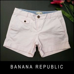 Banana Republic Women Folded Hem Short Size 4 Pink